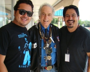 Carlos and I with David Amram outside our hotel